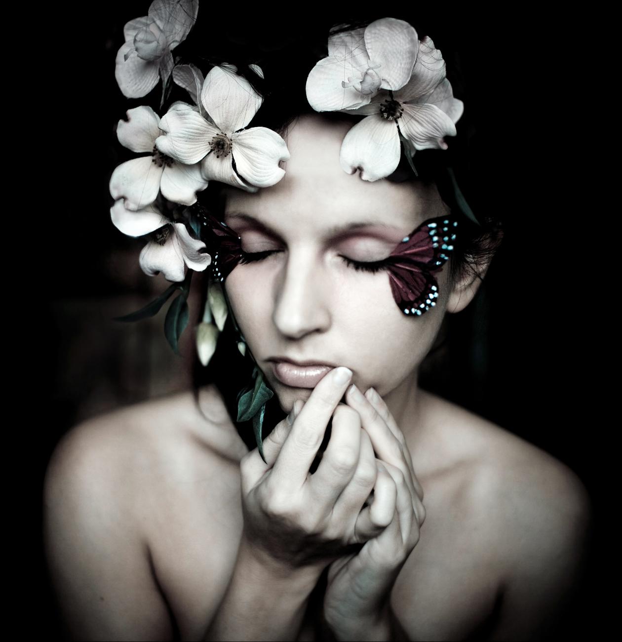 self portrait with butterflies