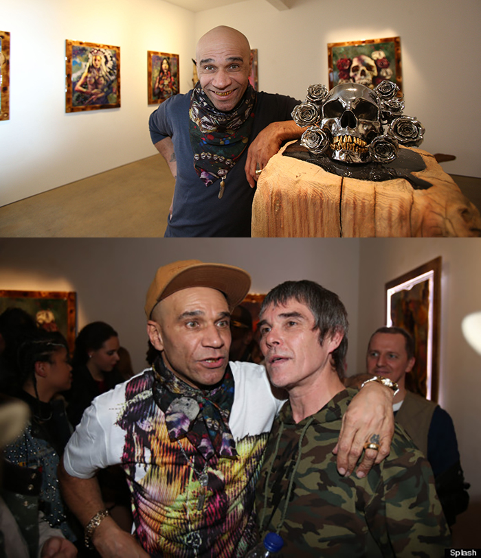 Goldie exhibits his art work at the Mead Carney Gallery Mayfair London