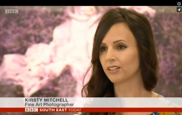 BBC South East News interview Kirsty during her solo show at Mead Carney Gallery