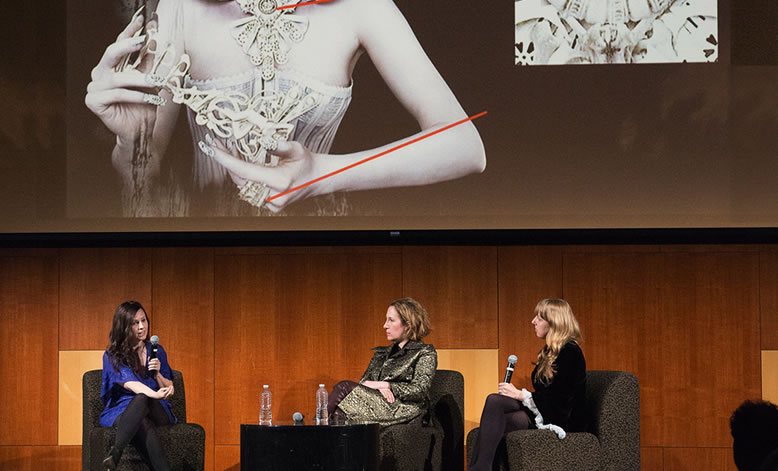 Live Q&A on Wonderland at the Museum at FIT, New York. March 2016