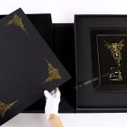 Collector's box. Portfolio and bespoke bronze key sculpture